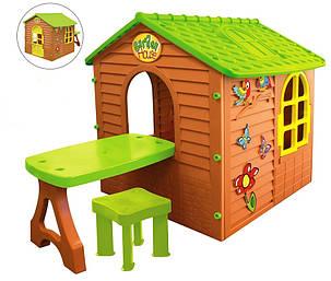 Детский игровой домик Mochtoys столик, табурет 11045, фото 2