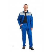 Костюм рабочий «Ресурс» синий с серой кокеткой