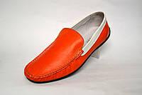 Мокасины мужские кожаные оранжевые натуральные Rosso Avangard Guerin Linewhite M4 Buccia d'arancia, фото 1