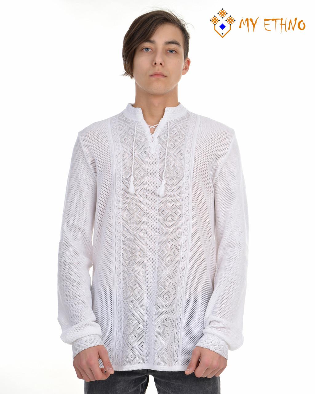 Мужская вязаная рубашка Назар (х/б)