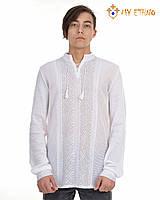 Мужская вязаная рубашка Назар (х/б), фото 1