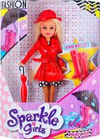 Кукла-модница Марисса в осеннем красном плаще Sparkle girlz Funville 25 см (FV24075-2)