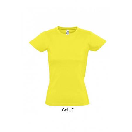 Футболка лимонная, SOL'S Imperial woman, размеры от S до XXL