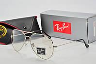 Имиджевые  очки Ray Ban Aviator RB 3026 серебро