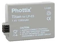 Аналог Canon LP-E5 (Phottix Titan 1080mAh). Аккумулятор для Canon 450D, 500D, 1000D
