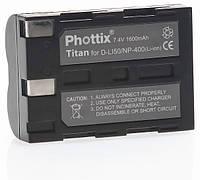 Аналог Minolta NP-400 (Phottix Titan Premium 1500mAh). Аккумулятор для Minolta DiMAGE A1, A2, A7, 5D, 7D