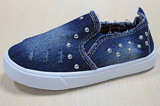 Слипоны для детей джинсовые на девочку тм Jong Golf р.28, фото 3