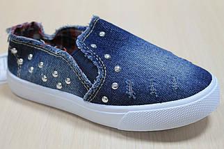 Слипоны для детей джинсовые на девочку тм Jong Golf р.28, фото 2