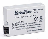 Аналог Canon LP-E8 (MaximalPower 1120mAh). Аккумулятор для Canon 550D, 600D, 650D