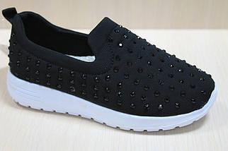 Чёрные слипоны для девочки спортивные мокасины тм Jong Golf р.30, фото 3