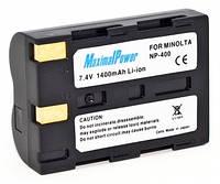 Аналог Minolta NP-400 (MaximalPower 1400mAh). Аккумулятор для Minolta DiMAGE A1,A2,A7,5D,7D