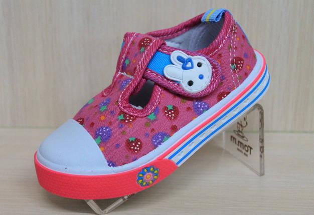 Мокасины кеды на девочку текстильная обувь р.20, фото 2