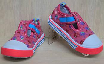 Мокасины кеды на девочку текстильная обувь р.20, фото 3
