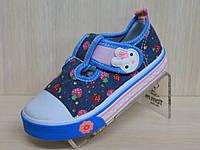 Кеды для подростков на девочку текстильная обувь р.20