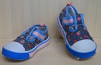 Кеды для подростков на девочку текстильная обувь р.20, фото 3