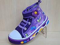 Детская обувь кеды на девочку текстильная обувь, высокие кеды р.25,26