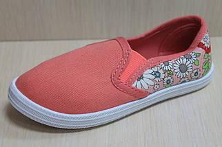 Мокасины для девочек детская текстильная спортивная обувь р. 25, фото 3