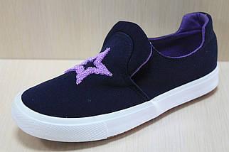 Детские кеды на девочку мокасины спортивная текстильная обувь р.30, фото 2
