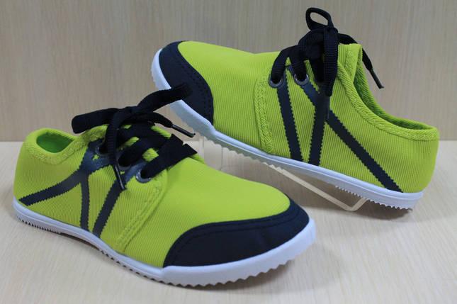 Кеды для подростков на девочку мокасины спортивная текстильная обувь р.31,32, фото 2