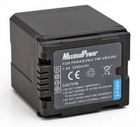 Аналог Panasonic VW-VBG260 (MaximalPower 2500mAh). Аккумулятор для Panasonic AG/HDC/SDR/VDR серии