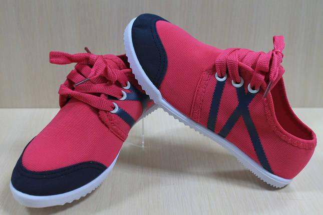 Мокасины кеды на девочку спортивная текстильная обувь р.31, фото 2