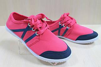 Мокасины кеды на девочку спортивная текстильная обувь р.31, фото 3