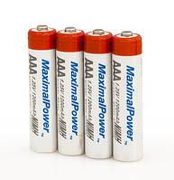 Набор пальчиковых аккумуляторов 4x AAA (MaximalPower 1200mAh)