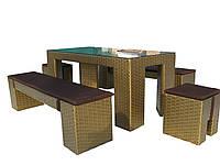 Комплект обідній з штучного ротанга №03-4333