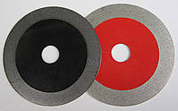 Алмазный диск для резки и шлифовки стекляной плитки, керамогранита, мрамора 125x1,5/17x22,2 красный, хамелеон