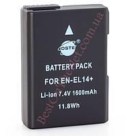 Аналог Nikon En-El14+ (DSTE 1600mAh - 100% совместимость). Аккумулятор для Nikon D3200, D3300, D5200, D5300, P7100, P7800, Df