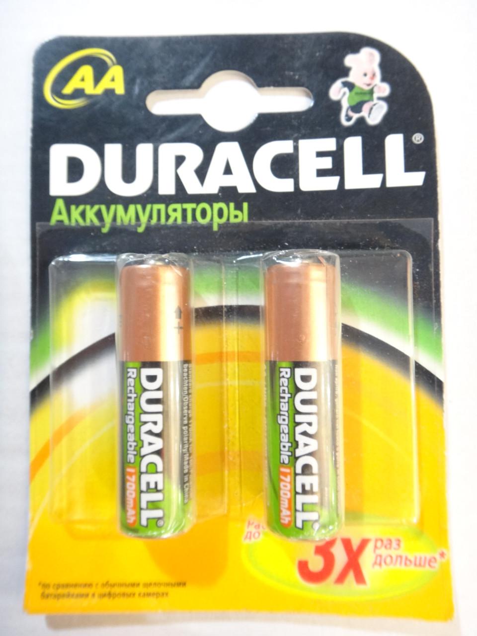 Аккумулятор AA 1700 mAh Duracell 1.2v