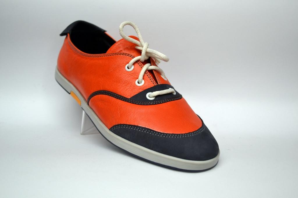 Кроссовки кеды мужские кожаные оранжевые Rosso Avangard Lacco Orange