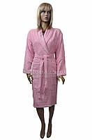 Халат махровый женский (шаль) Levinda №200845-розовый