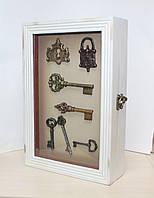 "Ключница настенная деревянная ""Ключи"". Подарок в стиле Прованс"