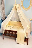 """Детское постельное белье в кроватку """"Вышивка Пчелка"""" Сатин, фото 1"""