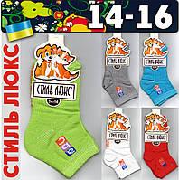 Детские носки демисезонные СТИЛЬ ЛЮКС Украина ассорти 14-16 размер НДД-273