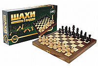 Шахматы 21201-US 3 в 1 деревянные 14*19см