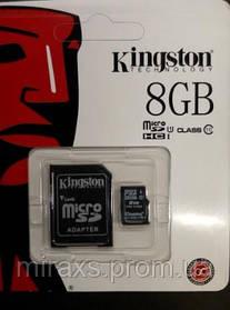 Карта памяти 8 gb class 10 + адаптер Kingston