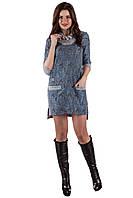 Теплое женское платье  SO-13130-ELB электрик ТМ Alpama 44-48 размеры
