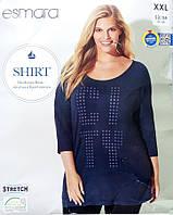 Реглан футболка туника женская большой размер XXL  52 54