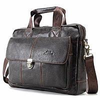 2a7196a6faf9 Класический мужской кожаный портфель Cross Ox для ноутбука, планшета,  документов из натуральной кожи