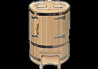 Кедровая фитобочка круглая «Классическая» со скосом
