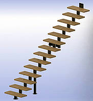 Прямая модульная лестница  Универсал 12 ступеней шириной 1000
