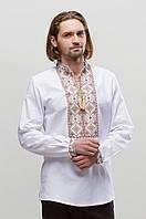 Мужская вышиванка Берегиня Коричневая 50