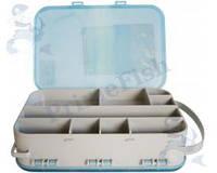 Коробка двусторонняя 15 ячеек( 2515) для рыболовных снастей