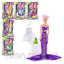 Кукла 29 см DEFA 6021 Русалочка, аксессуары, микс видов