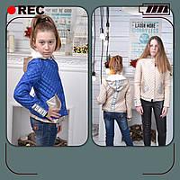 Подростковая стеганая куртка на девочку, 140 - 164 см. Весна 2017.
