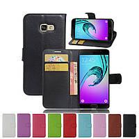 Чехол книжка для Samsung (Самсунг) Galaxy A3 2017 Duos SM-A320 (9 цветов)