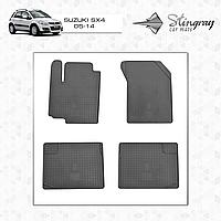 Коврики резиновые в салон Suzuki SX4 с 2014 (4шт) Stingray
