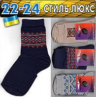 Детские носки демисезонные СТИЛЬ ЛЮКС Украина ассорти  размер 22-24 орнамент НДД-276